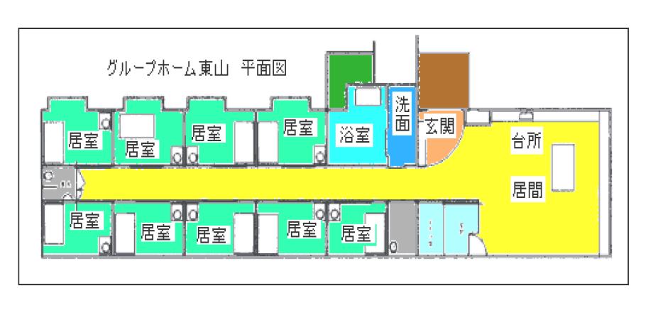 ループホーム東山 平面図